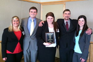 2013 ICC Moot Court Competition Winners - Pace Law School team: Alexandra Ashmont, Brad Gorson, Kristen Carroll, Peter Widulski, Andrea Hlopko