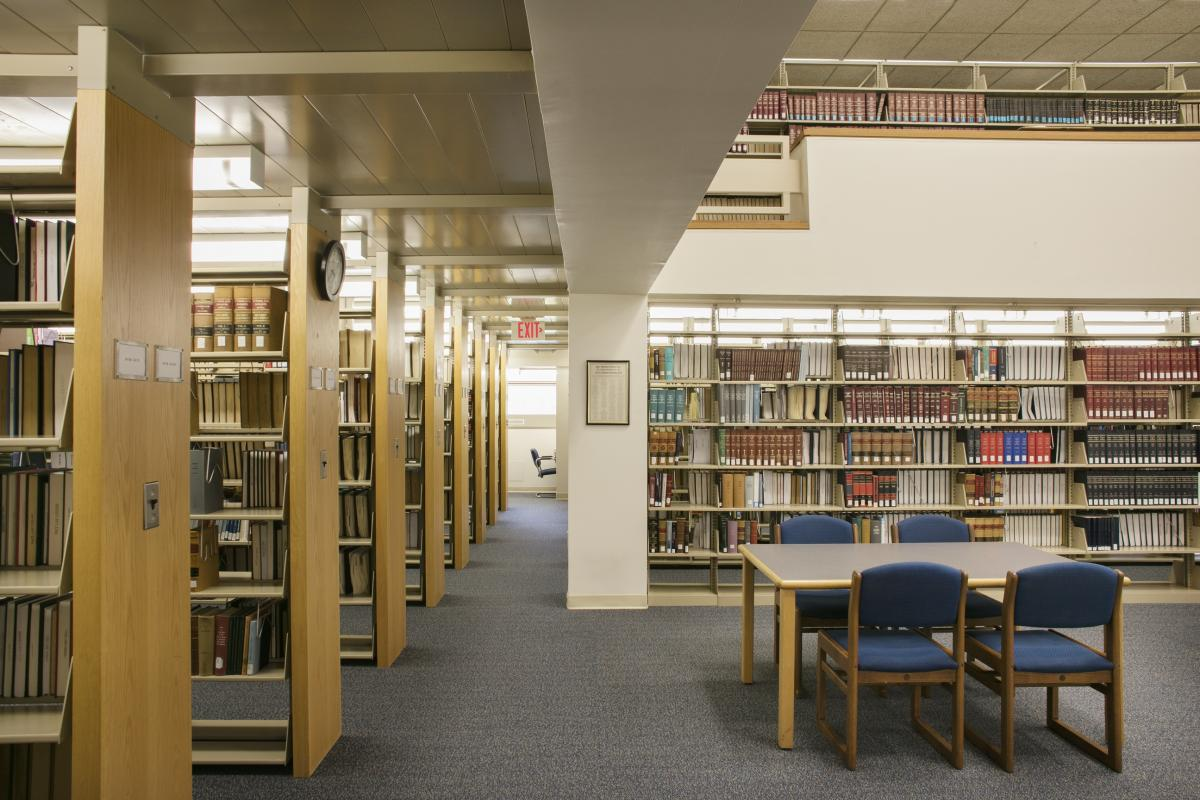 Library Stacks and Study Area