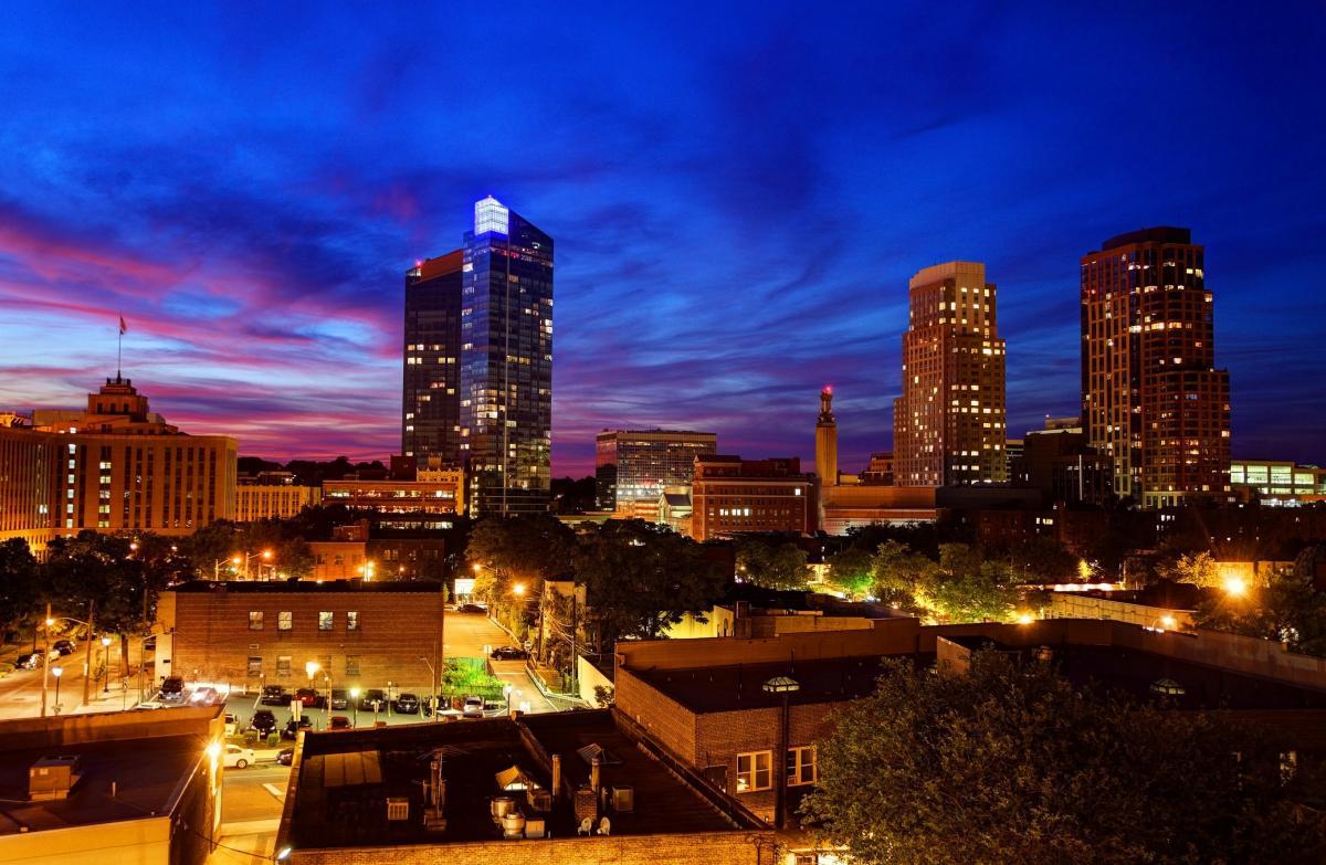 Skyline of downtown White Plains