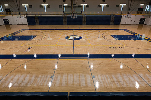 Basketball Court - The Goldstein Fitness Center on Pace University's Pleasantville campus