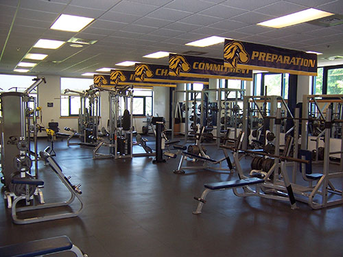 The Goldstein Fitness Center on Pace University's Pleasantville campus
