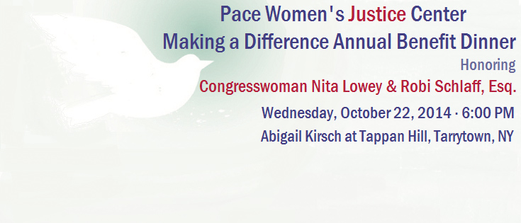 2014 Pace Womens Justice Center Annual Dinner