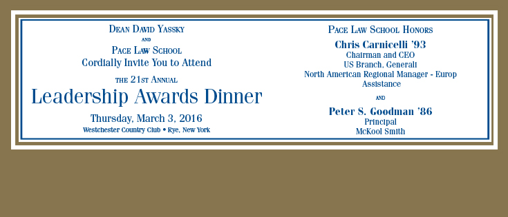 2016 Leadership Awards Dinner