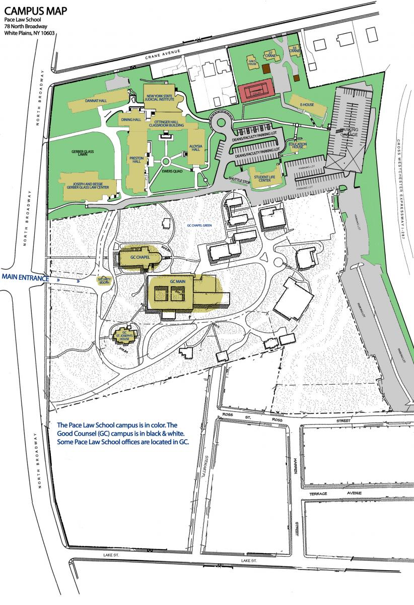 School Campus Map.Campus Map Pace Law School