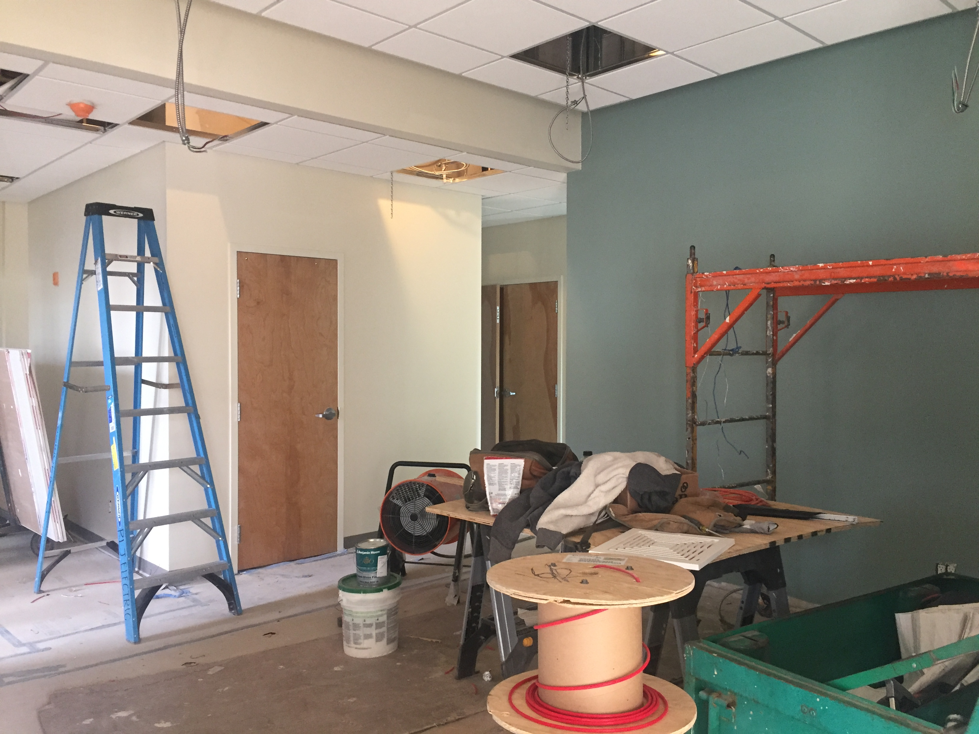 Construction photo of the Walk-In Clinic