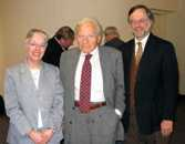 Marie Newman, David Sive, and Nick Robinson at the Sive archive reception.