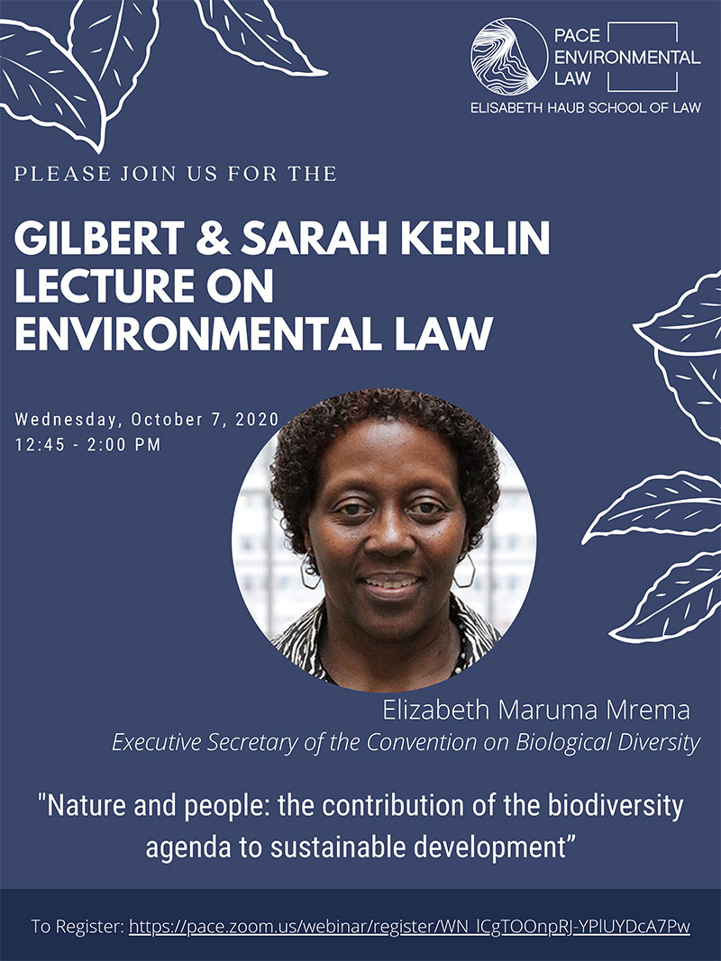 2020 Kerlin Lecture by Elizabeth Maruma Mrema Executive Secretary of the Convention on Biological Diversity