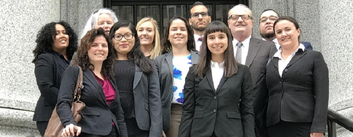 Immigration Justice Clinic representing clients at the Second Circuit Court of Appeals