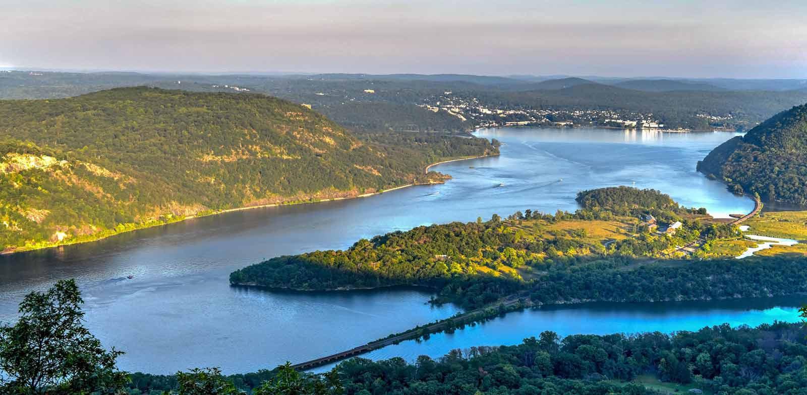 Hudson River in autumn