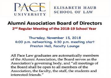Alumni Board announcement