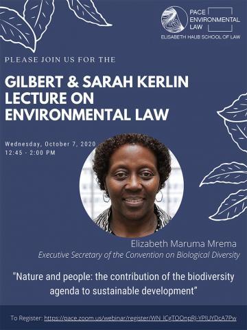 2020 Kerlin Lecture by Elizabeth Maruma Mrema Executive Secretary of the Convention on Biological Diversity