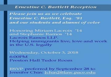 Ernestine Bartlett Invitation
