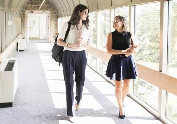 Female students walking