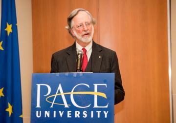 Professor Nicholas Robinson at a previous Haub Award ceremony