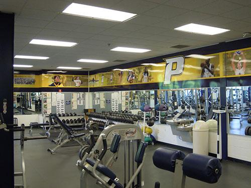 Weight Room - The Goldstein Fitness Center on Pace University's Pleasantville campus