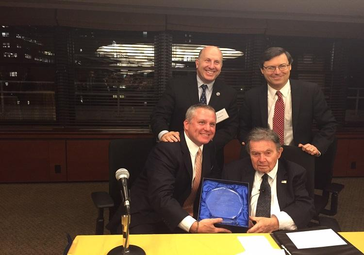 Dean Yassky, Marvin Krislov, Robert Tucker and Queens DA Richard Brown