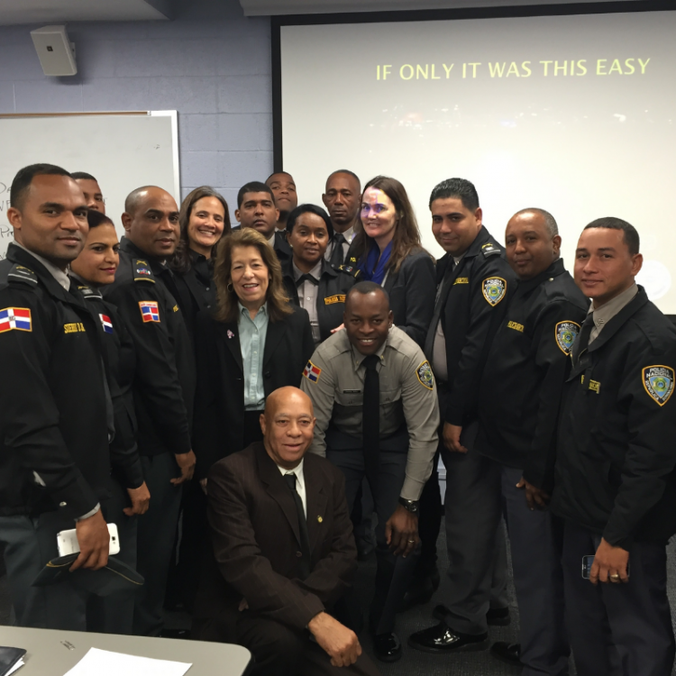 PWJC Training Police Officers on How to Handle Situations of Abuse