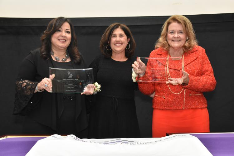 Honorees Jacqueline Hattar, Esq., and Anne Marie Hynes, Esq.